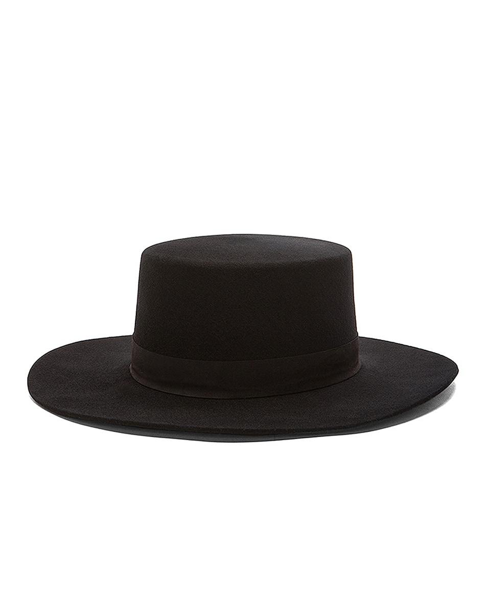 Image 2 of Janessa Leone Gabrielle Hat in Black