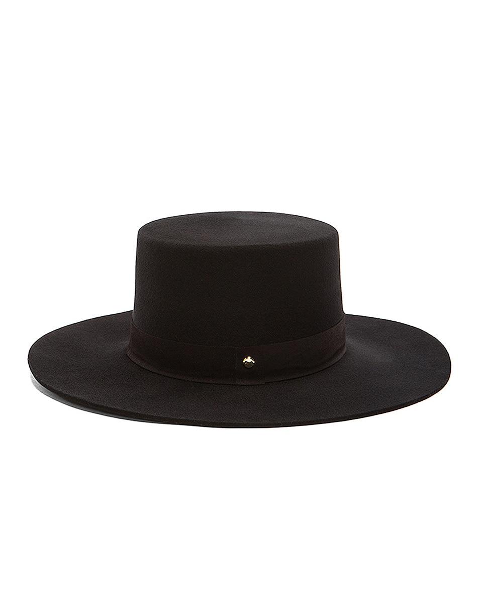 Image 4 of Janessa Leone Gabrielle Hat in Black
