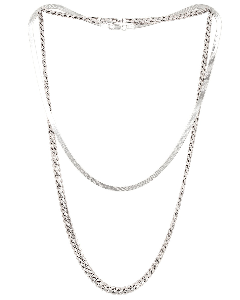 Image 1 of Jordan Road Jewelry for FWRD Chelsea Necklace Stack in Silver