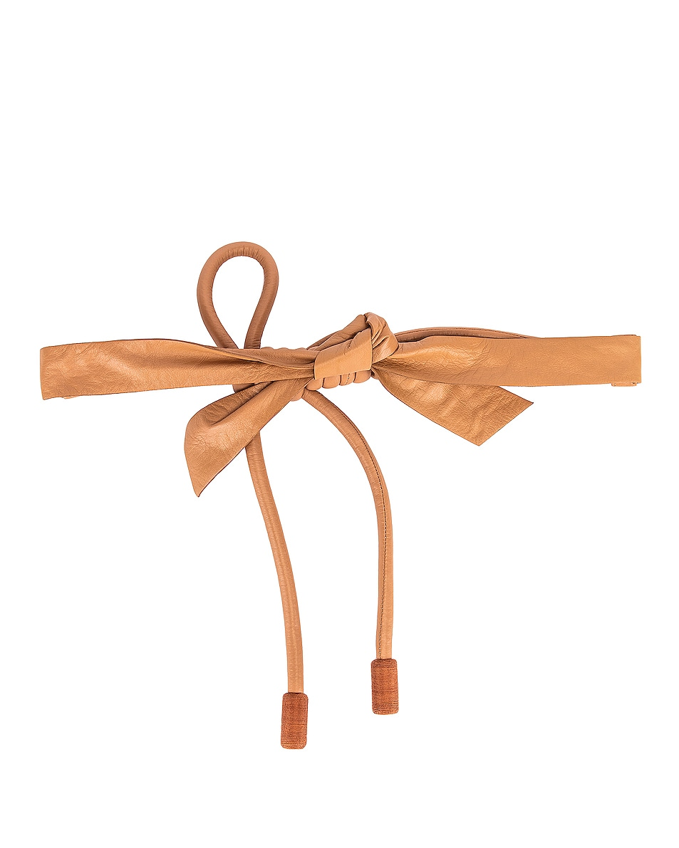 Image 2 of Johanna Ortiz Antiquary Conservation Leather Belt in Tan
