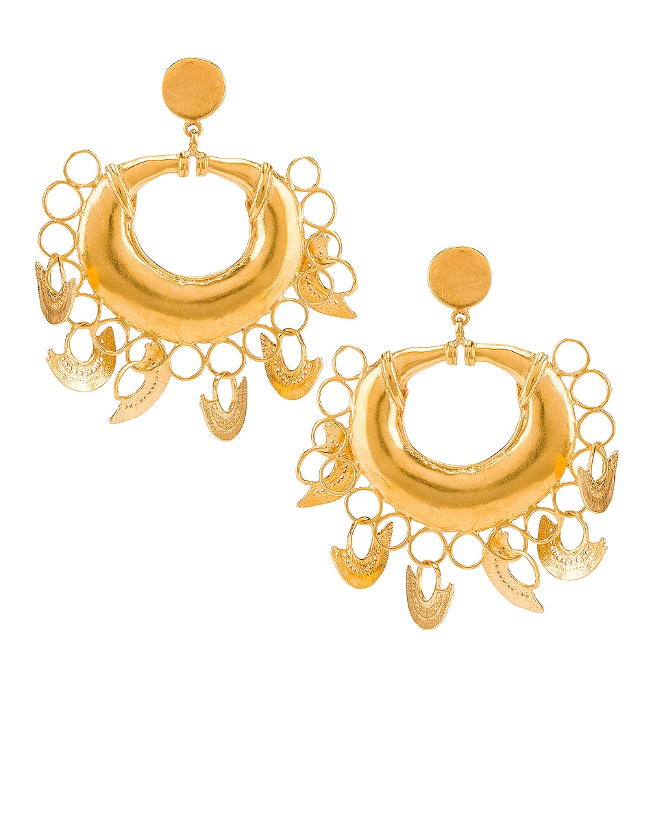 Image 1 of Johanna Ortiz Albarcoque Earrings in Gold