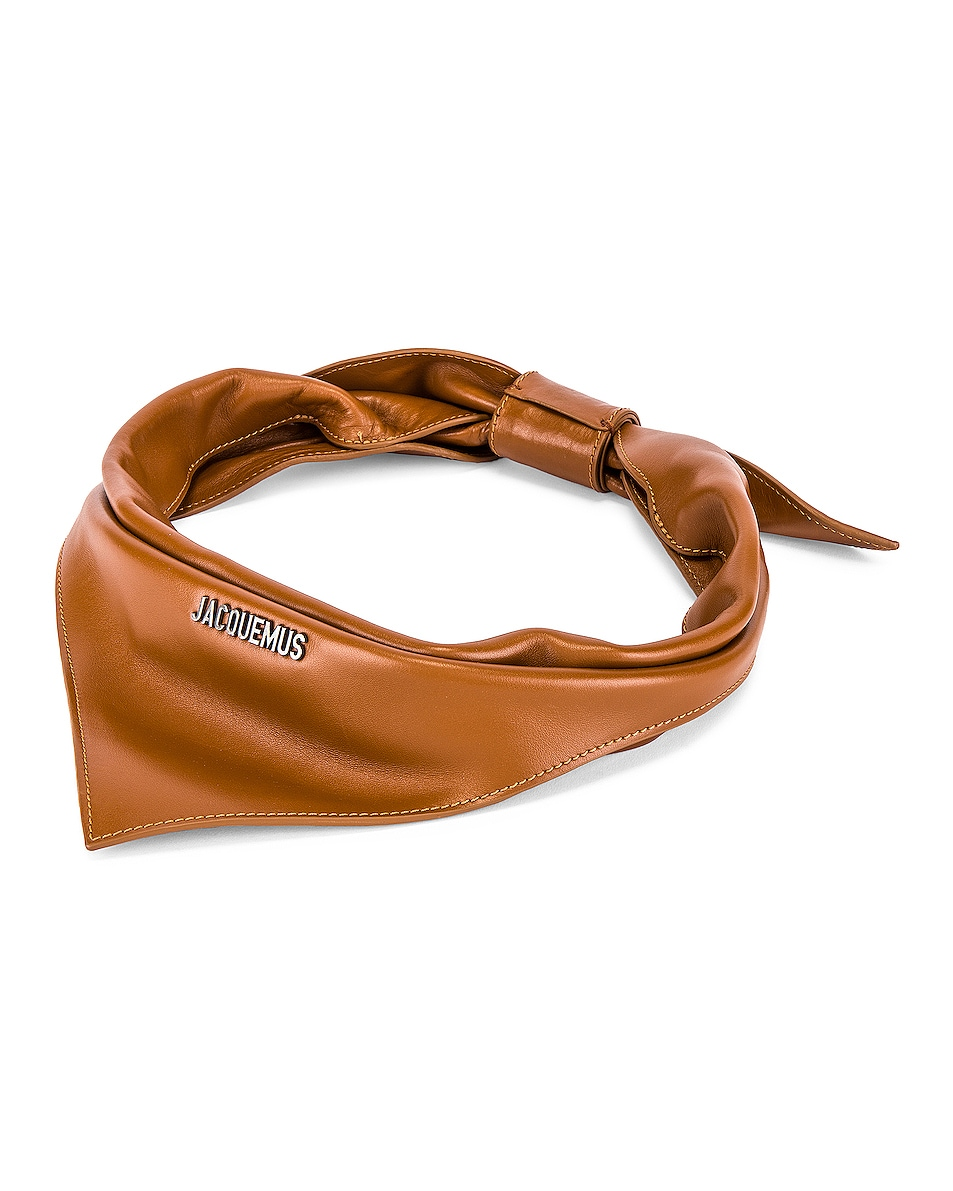 Image 2 of JACQUEMUS Bandana in Brown