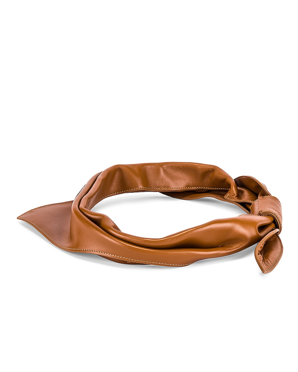 Image 3 of JACQUEMUS Bandana in Brown
