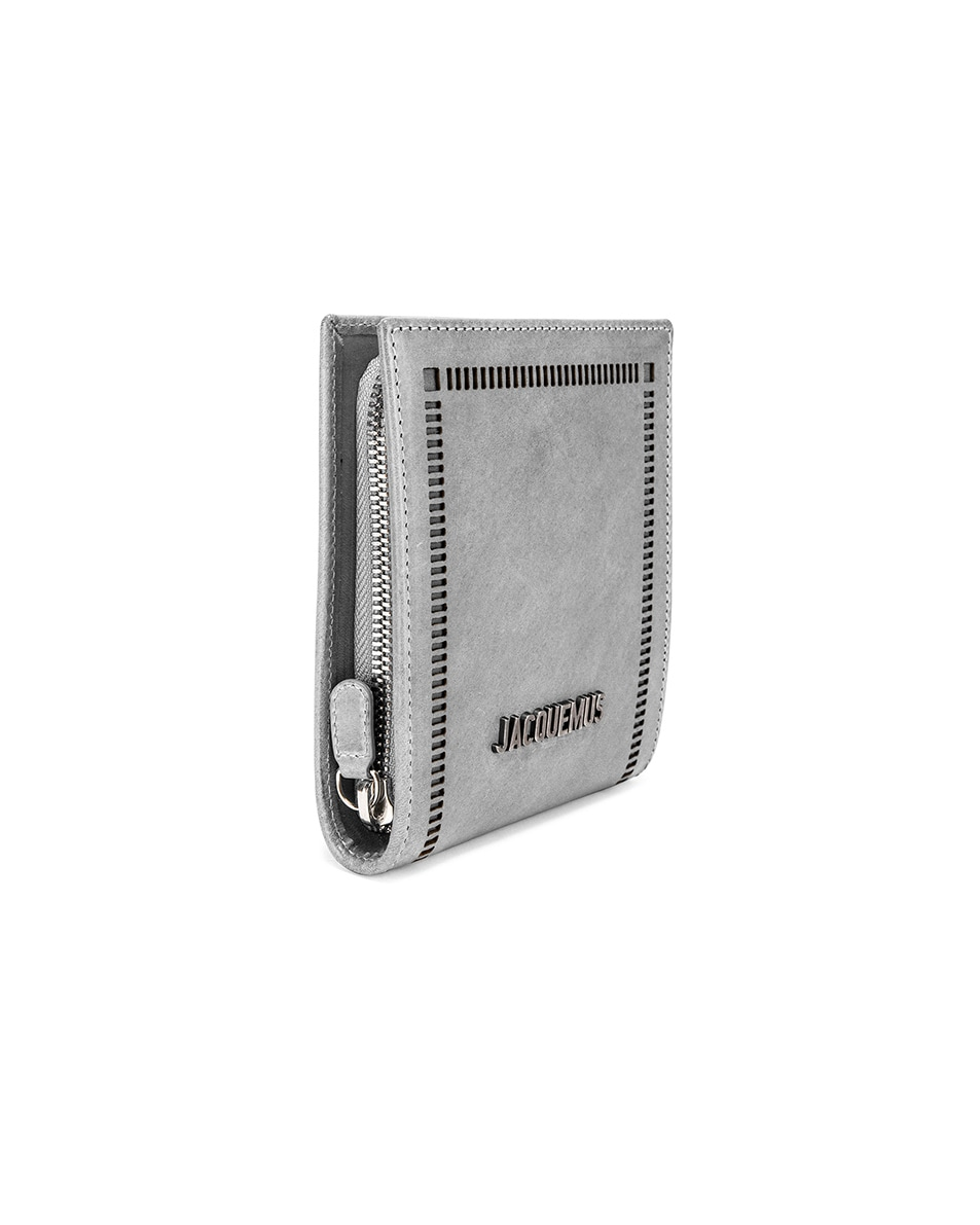 Image 3 of JACQUEMUS Neck Wallet in Stone Grey