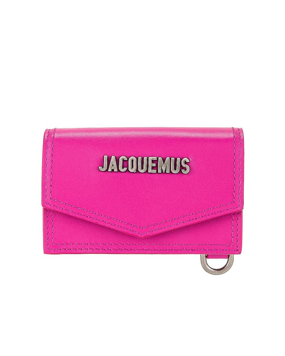 Image 1 of JACQUEMUS Le Porte Azur Neck Wallet in Pink