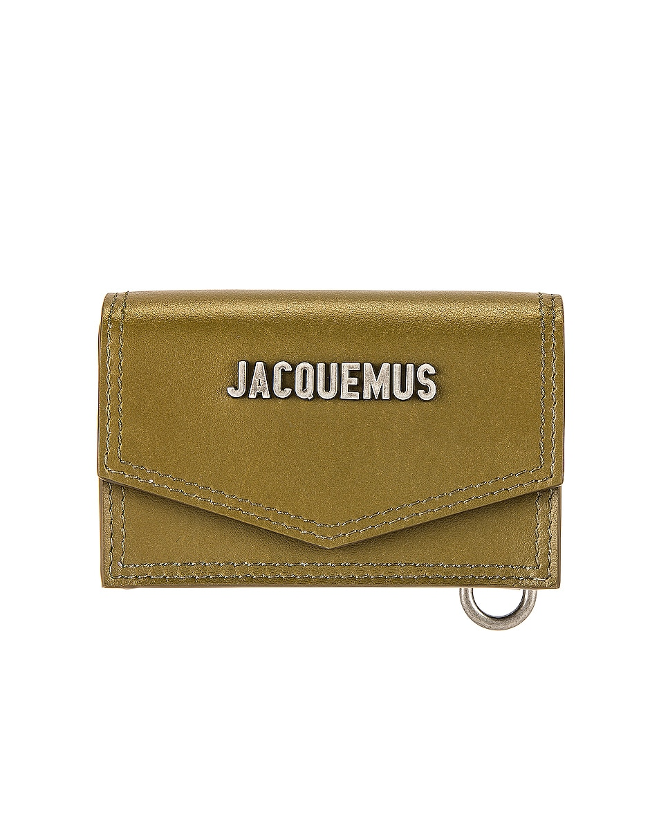 Image 1 of JACQUEMUS Le Porte Azur Neck Wallet in Dark Khaki