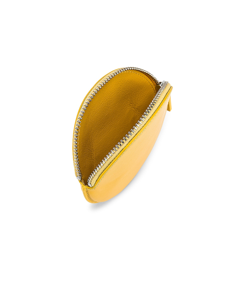 Image 5 of JACQUEMUS Small Leather Neck Wallet in Yellow