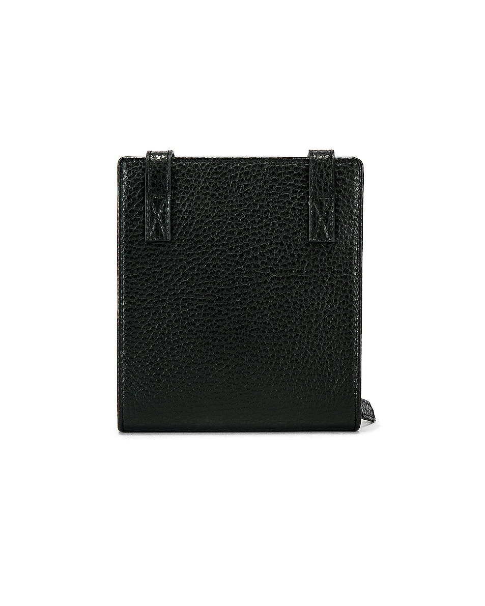 Image 2 of JACQUEMUS Leather Neck Wallet in Black