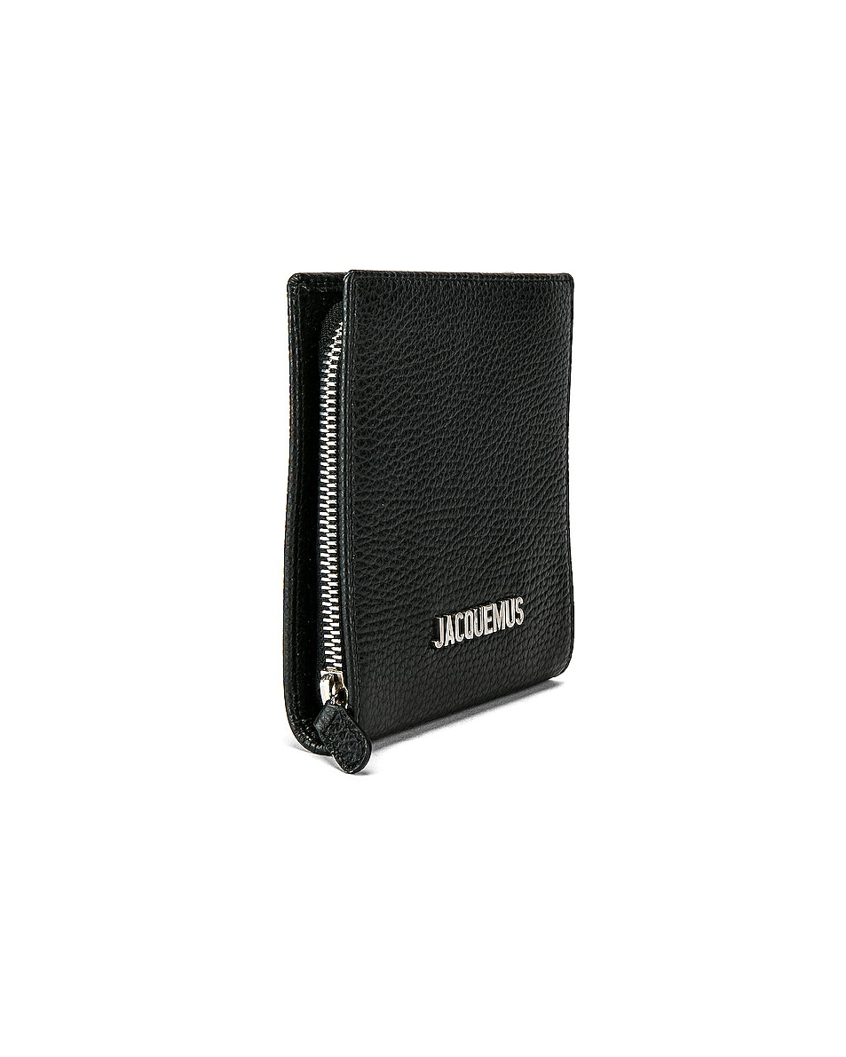 Image 3 of JACQUEMUS Leather Neck Wallet in Black