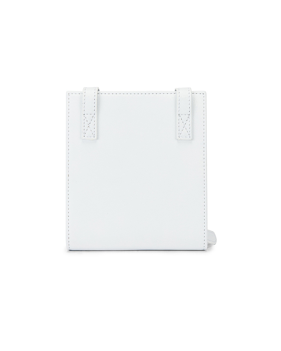 Image 2 of JACQUEMUS Leather Neck Wallet in White
