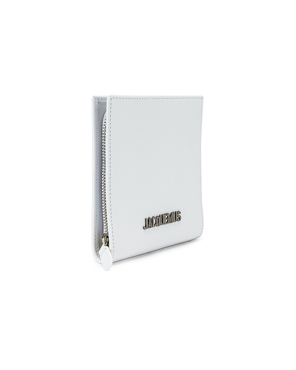 Image 3 of JACQUEMUS Leather Neck Wallet in White