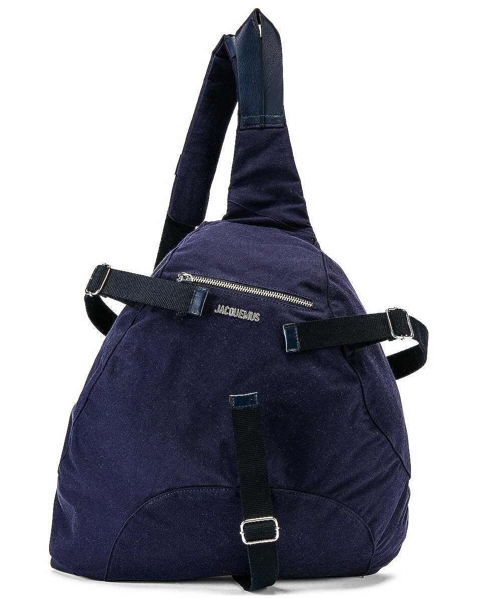 Image 1 of JACQUEMUS Backpack in Navy
