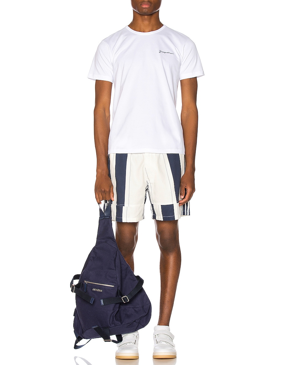 Image 2 of JACQUEMUS Backpack in Navy