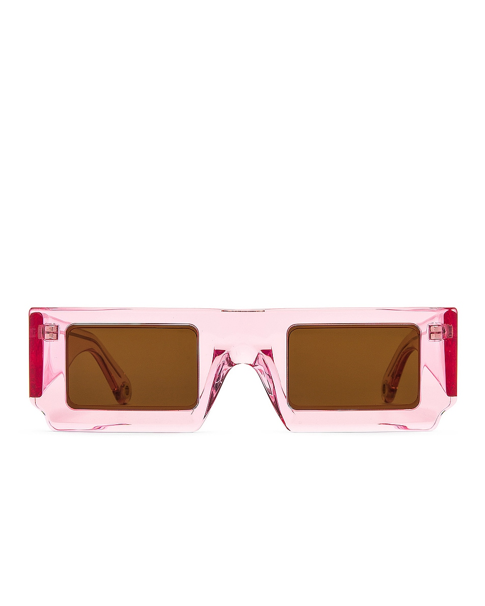 Image 1 of JACQUEMUS Les Lunettes Soleil in Multi Pink