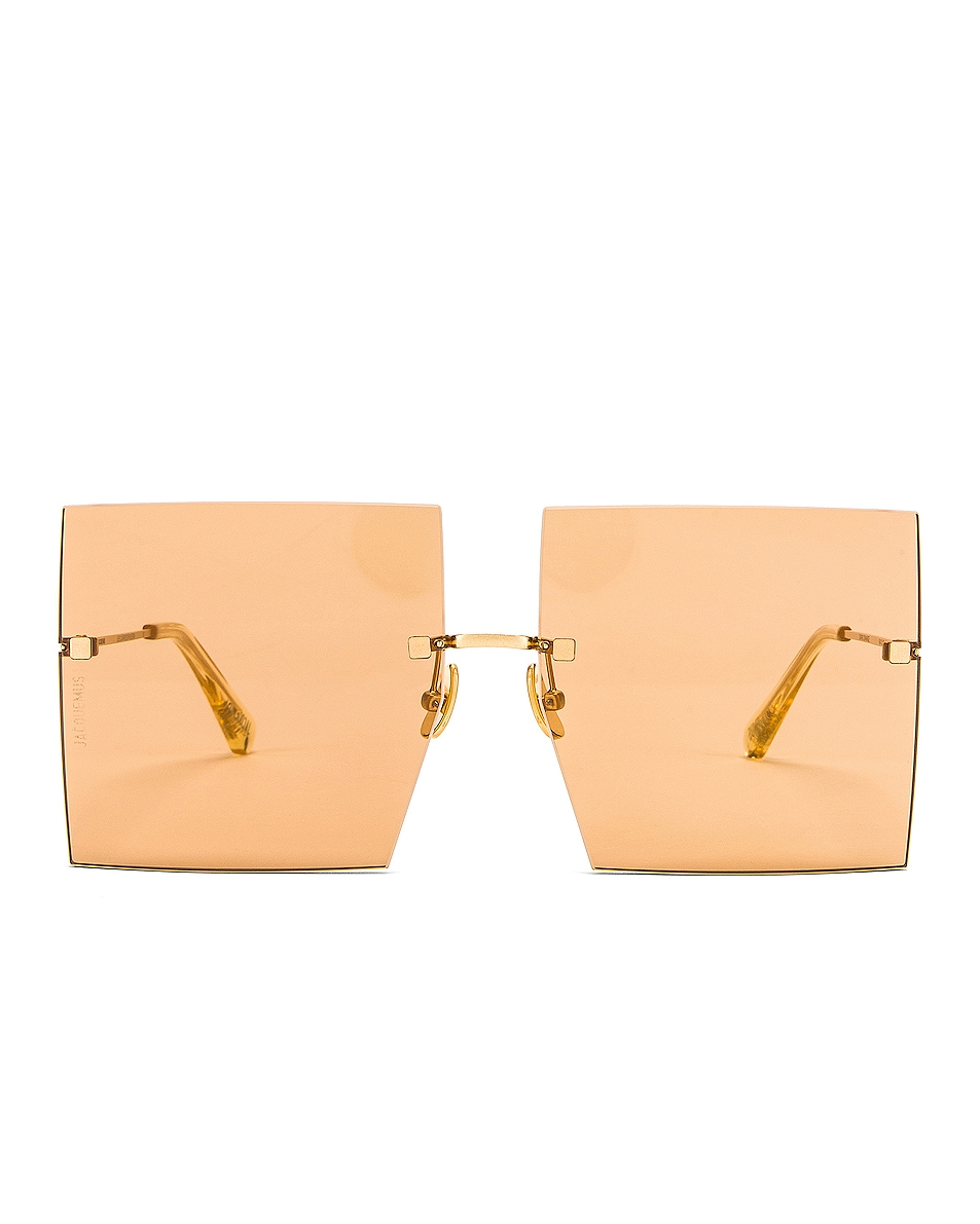 Image 1 of JACQUEMUS Riviera Sunglasses in Dark Orange