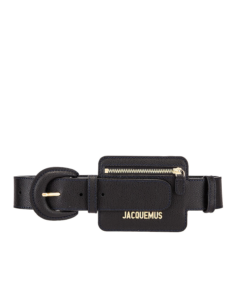 Image 1 of JACQUEMUS Wallet Belt in Black