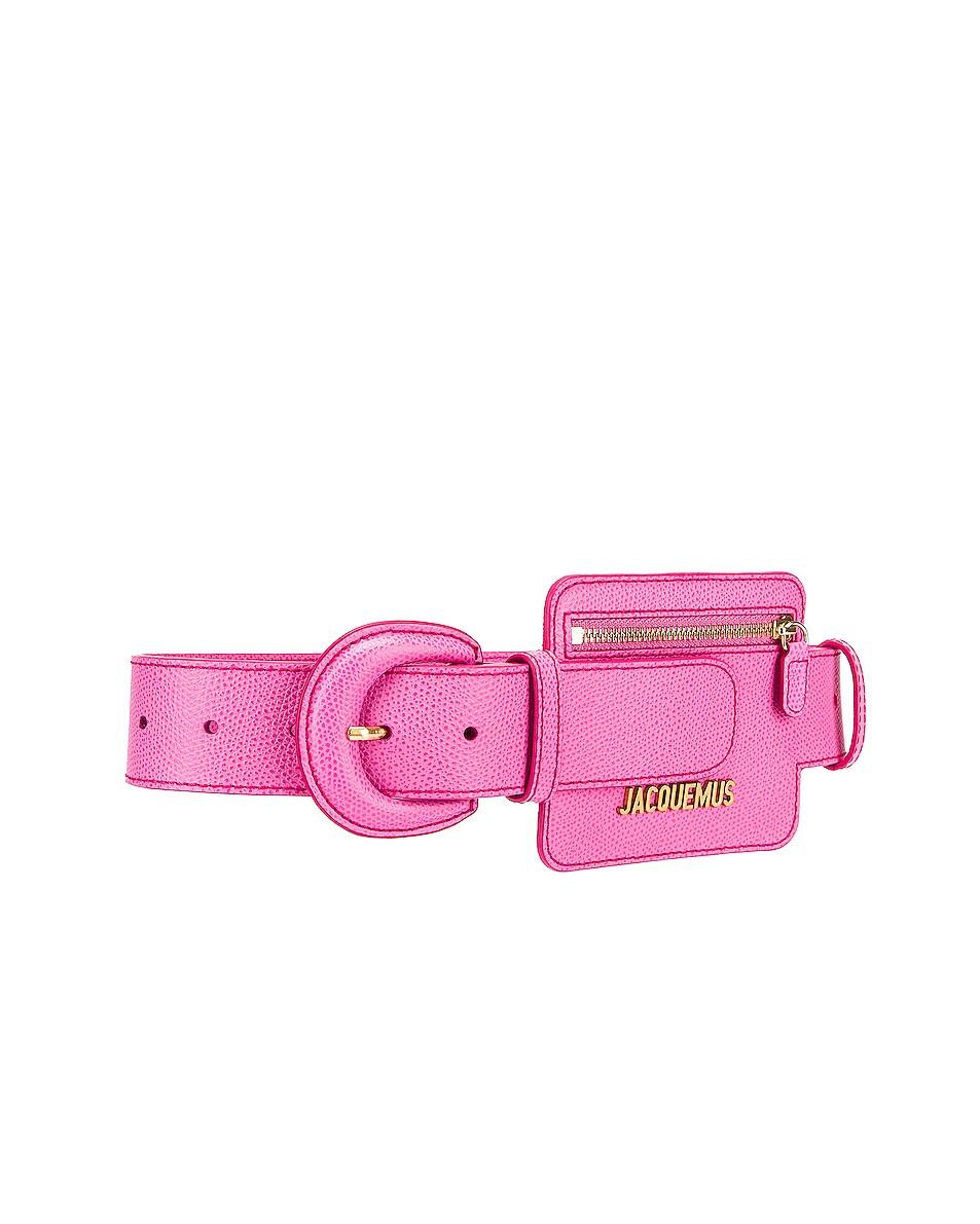 Image 3 of JACQUEMUS Wallet Belt in Pink