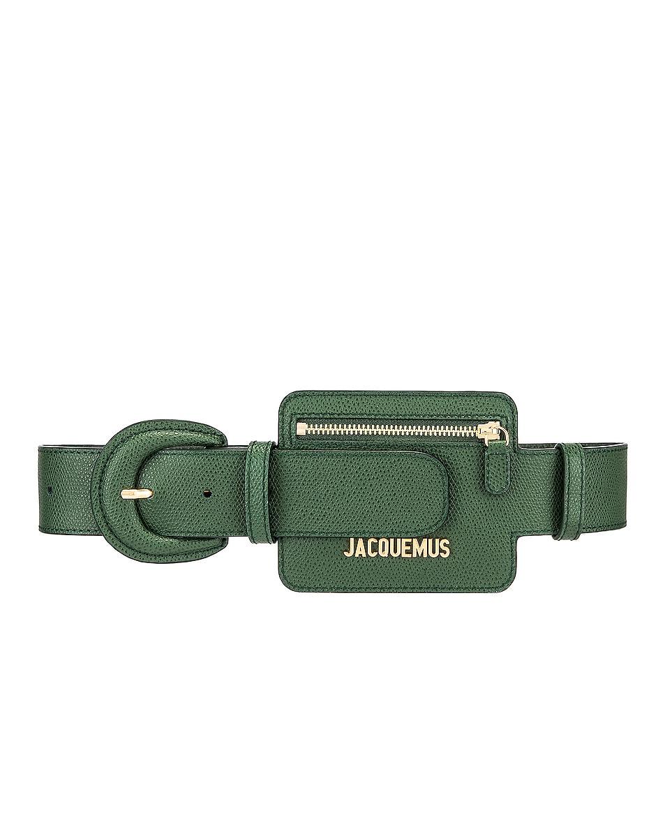 Image 1 of JACQUEMUS Wallet Belt in Dark Green