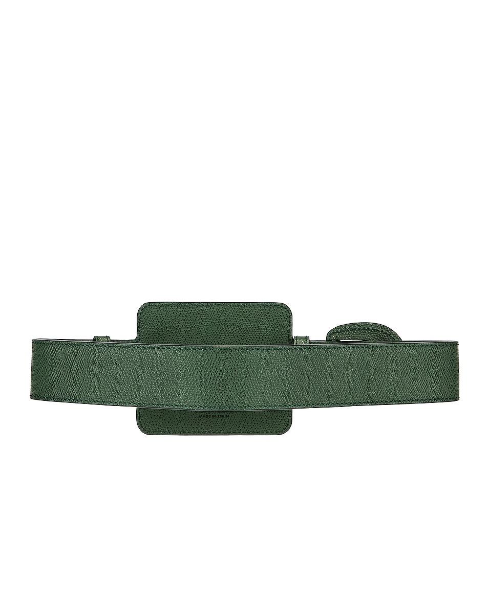 Image 2 of JACQUEMUS Wallet Belt in Dark Green