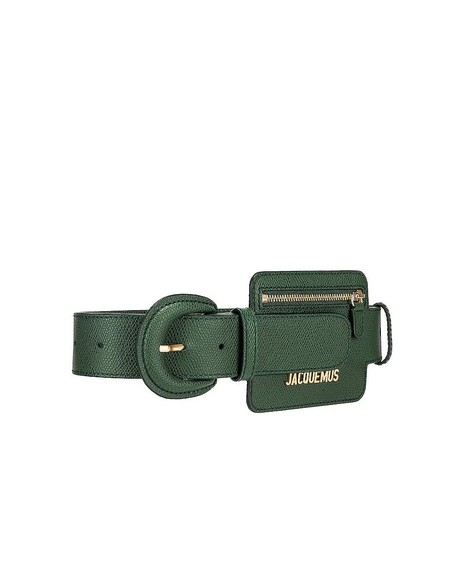 Image 3 of JACQUEMUS Wallet Belt in Dark Green