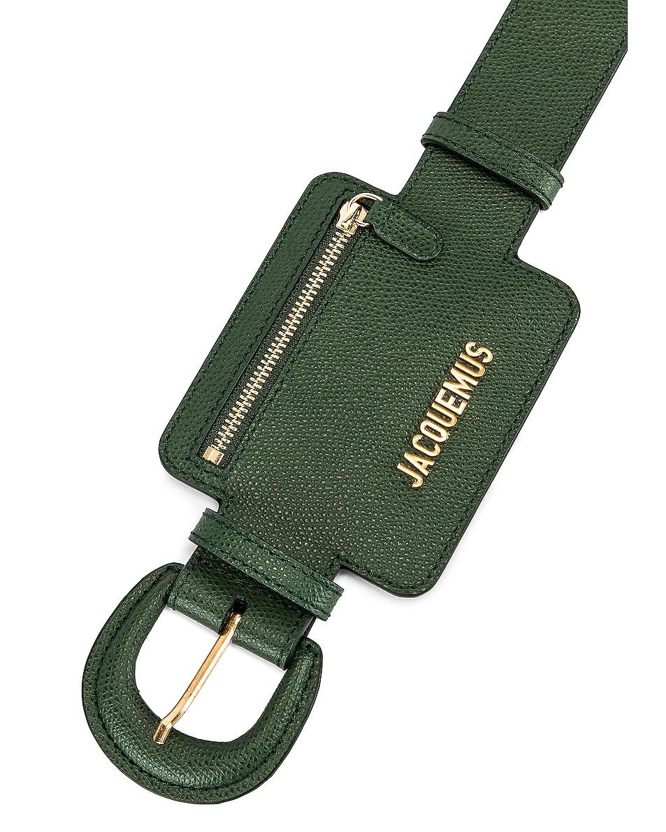 Image 6 of JACQUEMUS Wallet Belt in Dark Green
