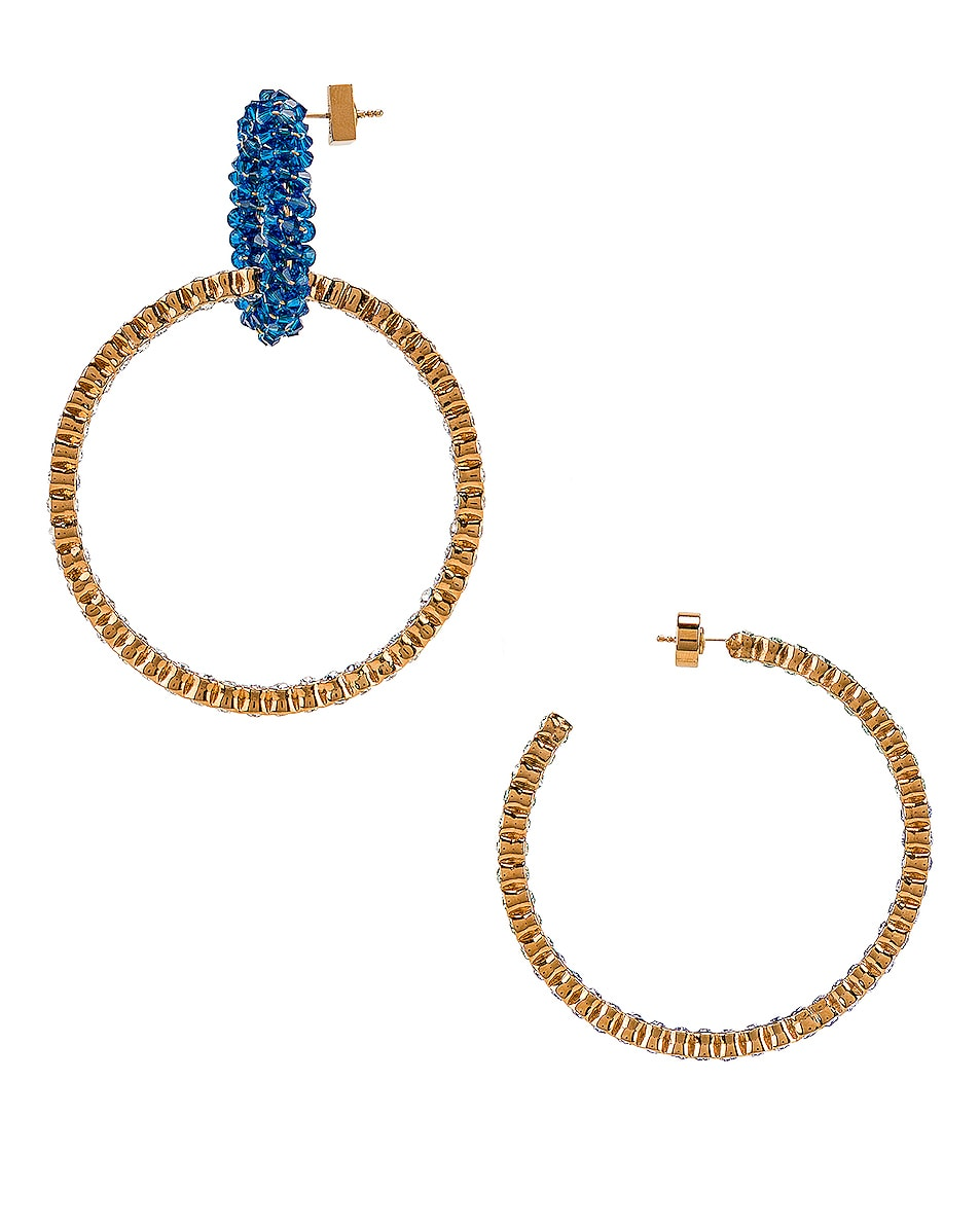 Image 3 of JACQUEMUS Conca Earrings in Blue