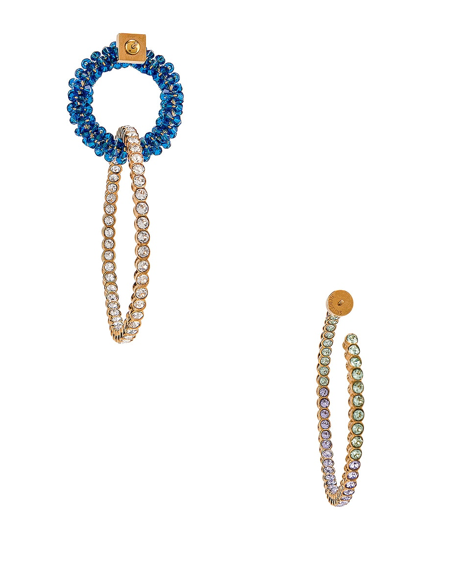 Image 4 of JACQUEMUS Conca Earrings in Blue