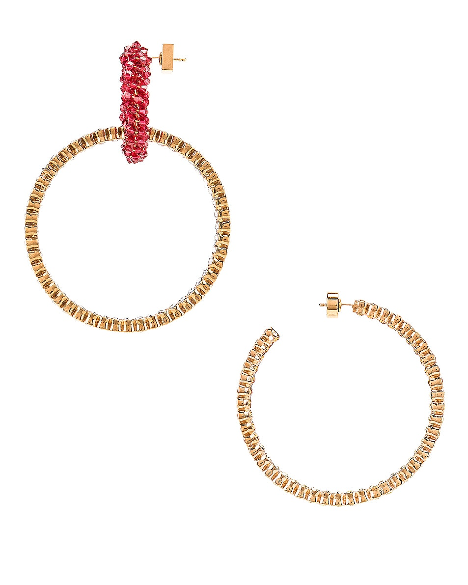 Image 3 of JACQUEMUS Conca Earrings in Red