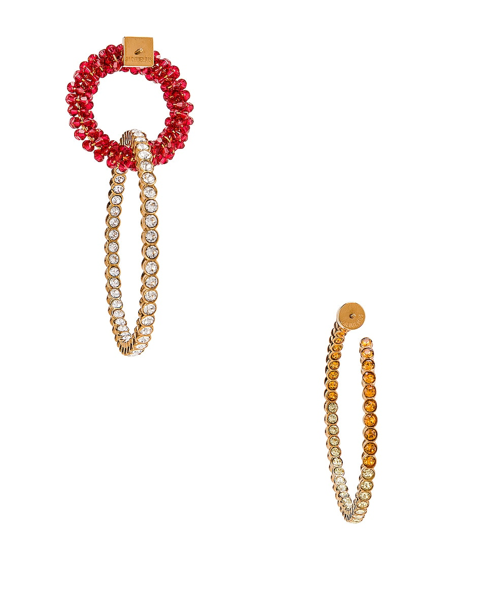 Image 4 of JACQUEMUS Conca Earrings in Red