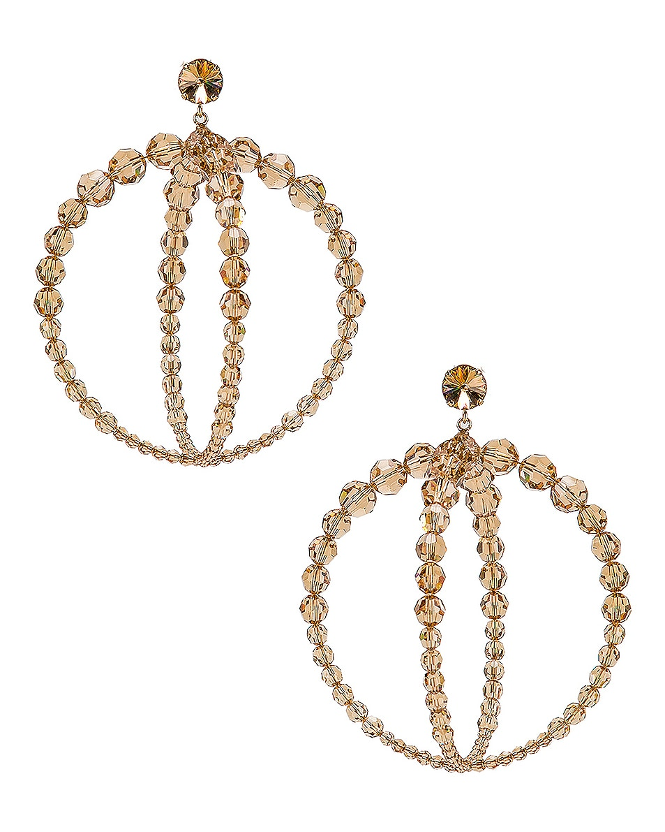 Image 1 of JACQUEMUS Cristalli Earrings in Beige