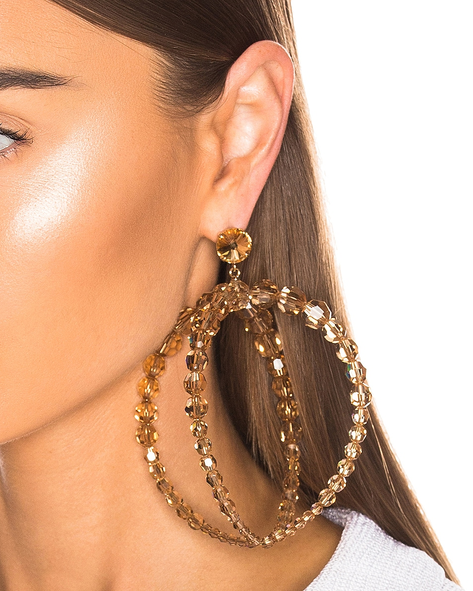 Image 2 of JACQUEMUS Cristalli Earrings in Beige