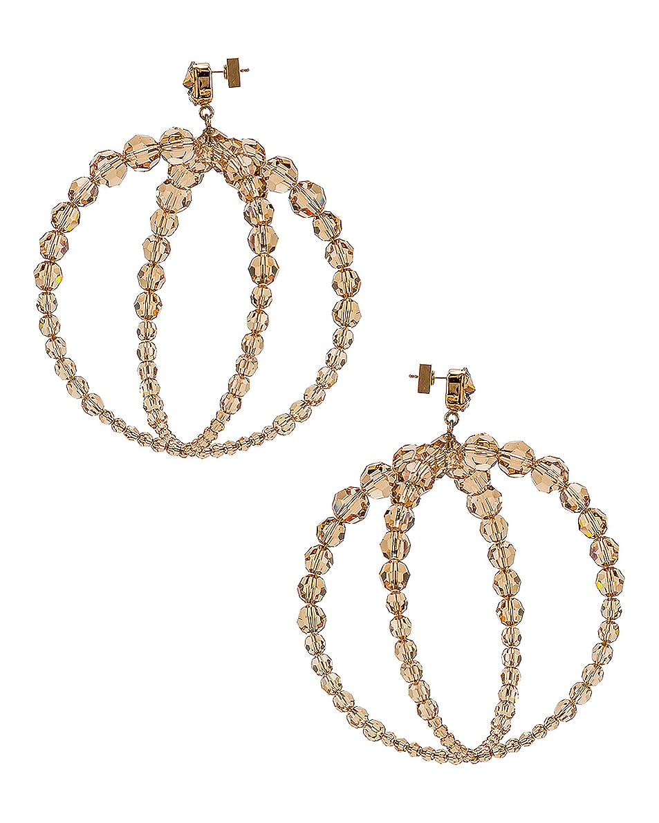 Image 3 of JACQUEMUS Cristalli Earrings in Beige