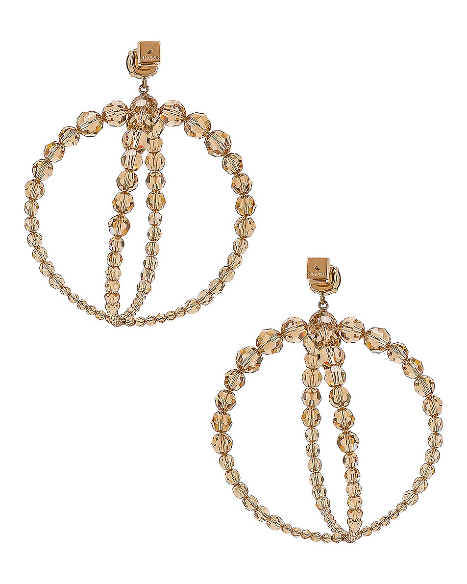 Image 4 of JACQUEMUS Cristalli Earrings in Beige