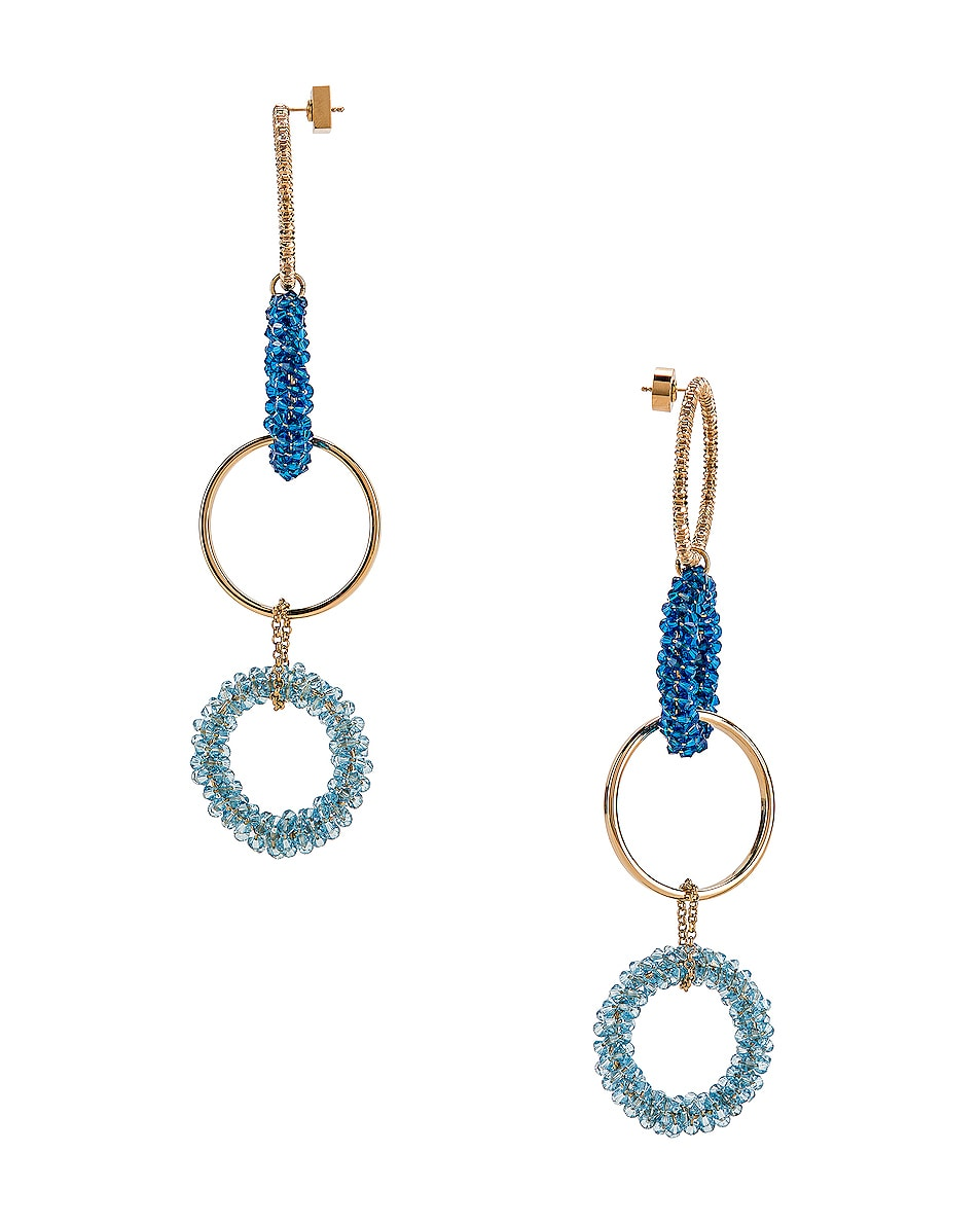 Image 3 of JACQUEMUS Riviera Earrings in Blue