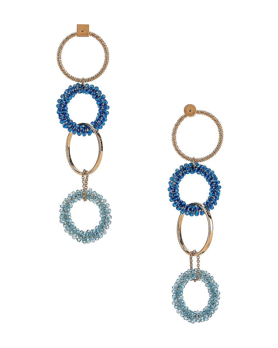 Image 4 of JACQUEMUS Riviera Earrings in Blue