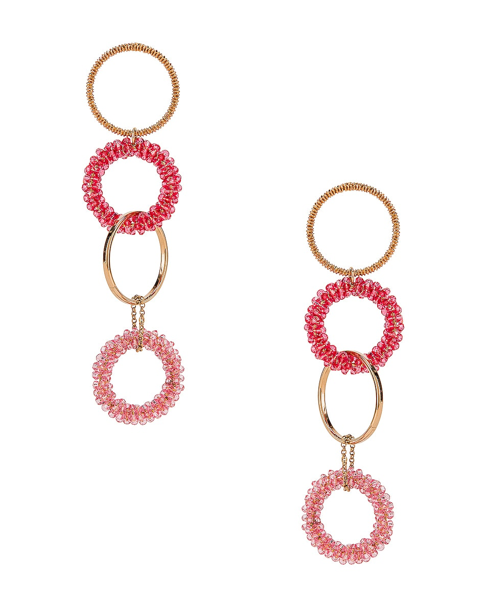Image 1 of JACQUEMUS Riviera Earrings in Pink