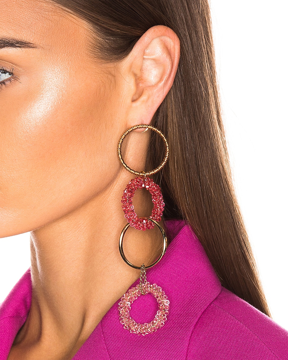 Image 2 of JACQUEMUS Riviera Earrings in Pink