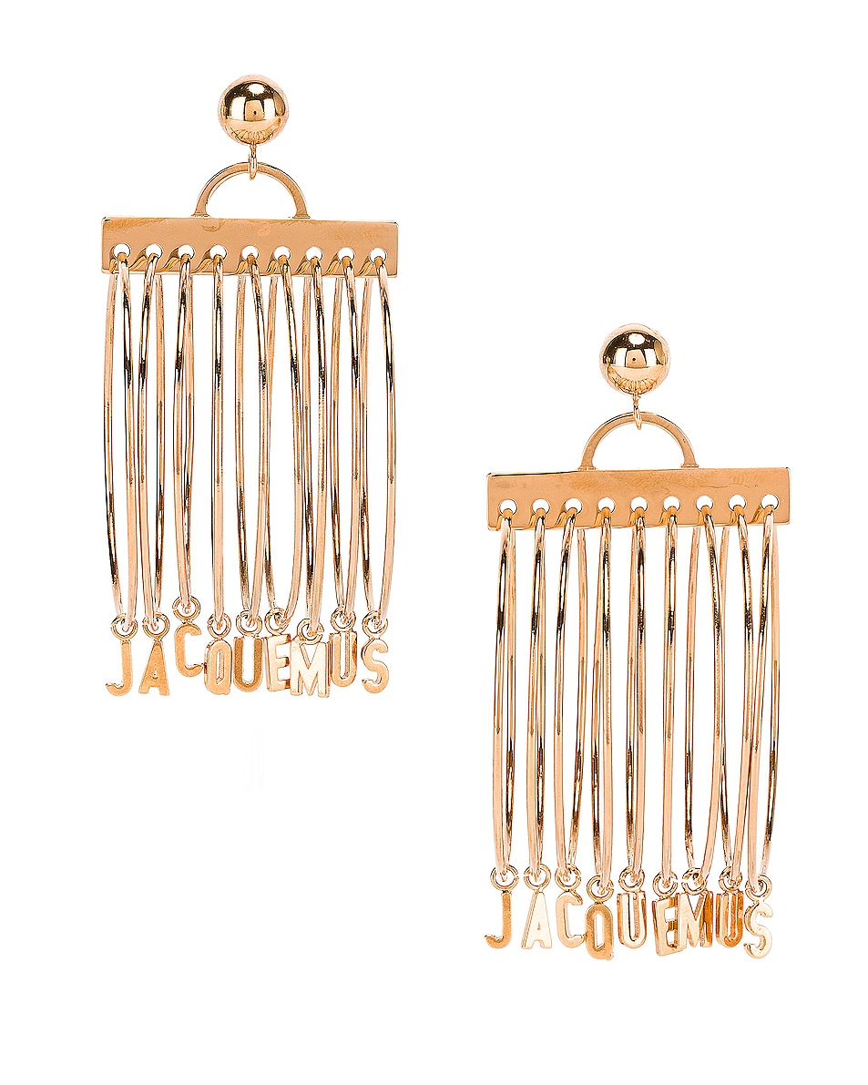 Image 1 of JACQUEMUS Ring Earrings in Gold