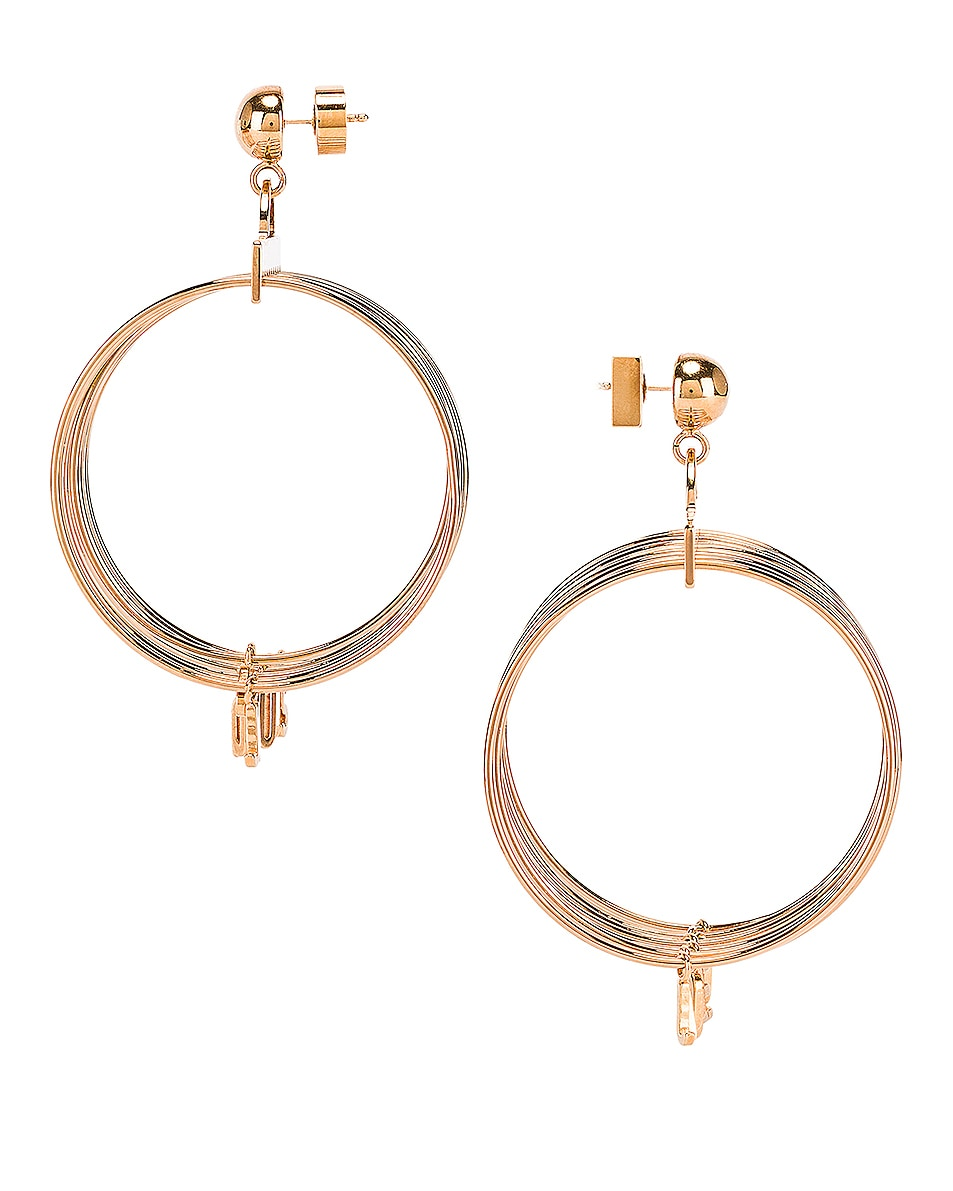 Image 3 of JACQUEMUS Ring Earrings in Gold