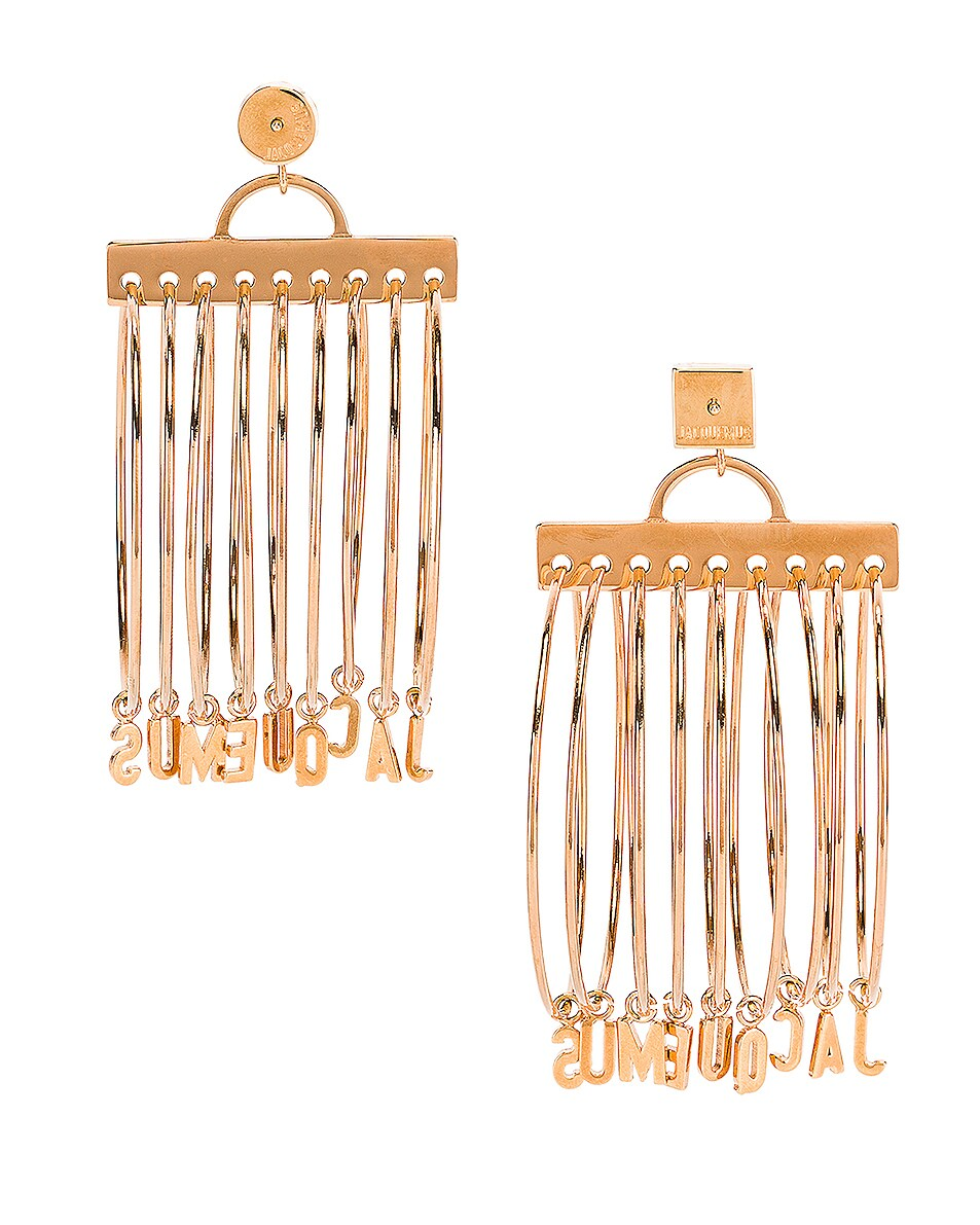 Image 4 of JACQUEMUS Ring Earrings in Gold