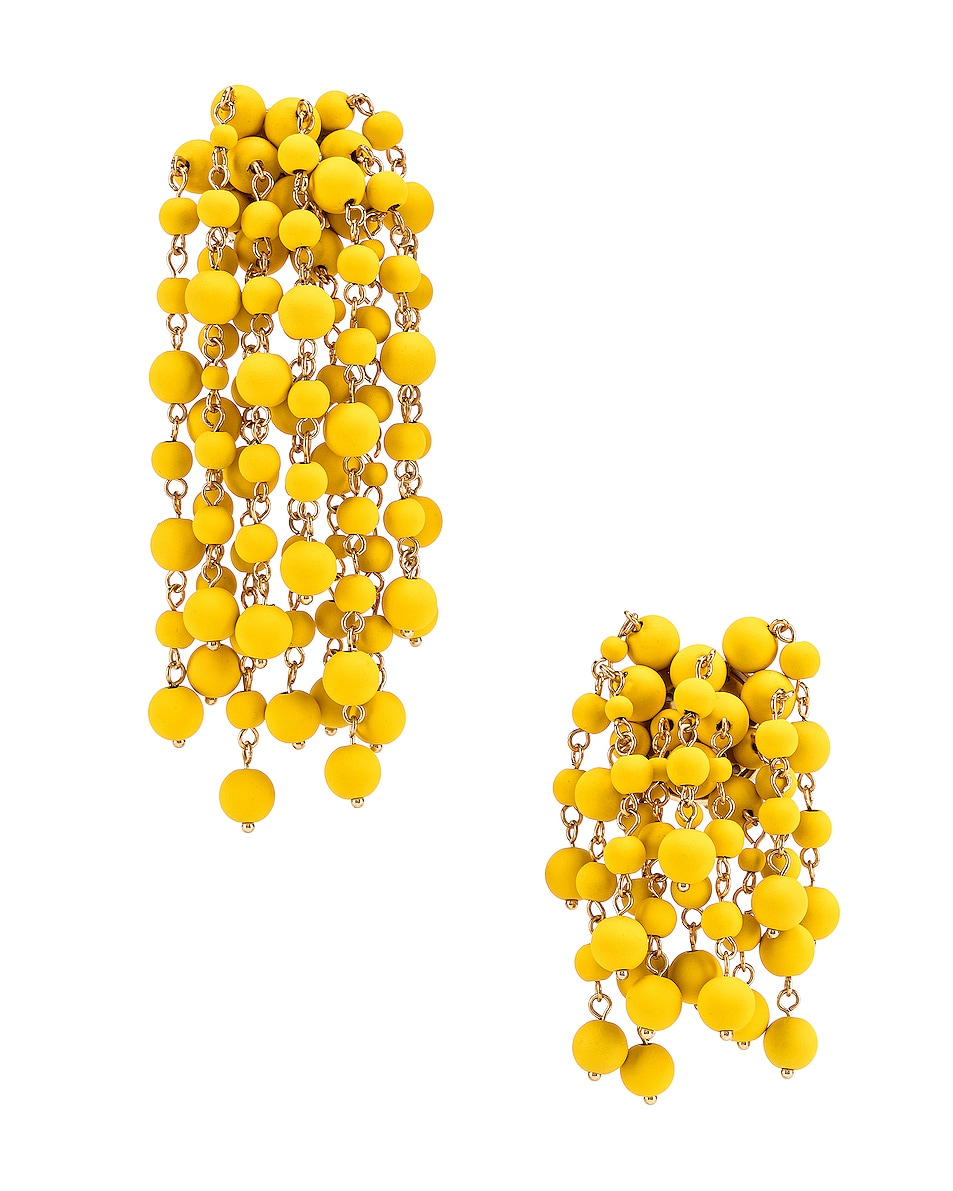 Image 1 of JACQUEMUS Les Mimosas Earrings in Yellow