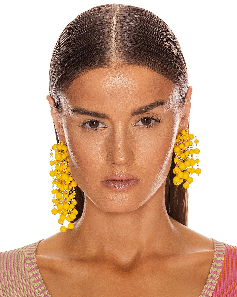 Image 2 of JACQUEMUS Les Mimosas Earrings in Yellow