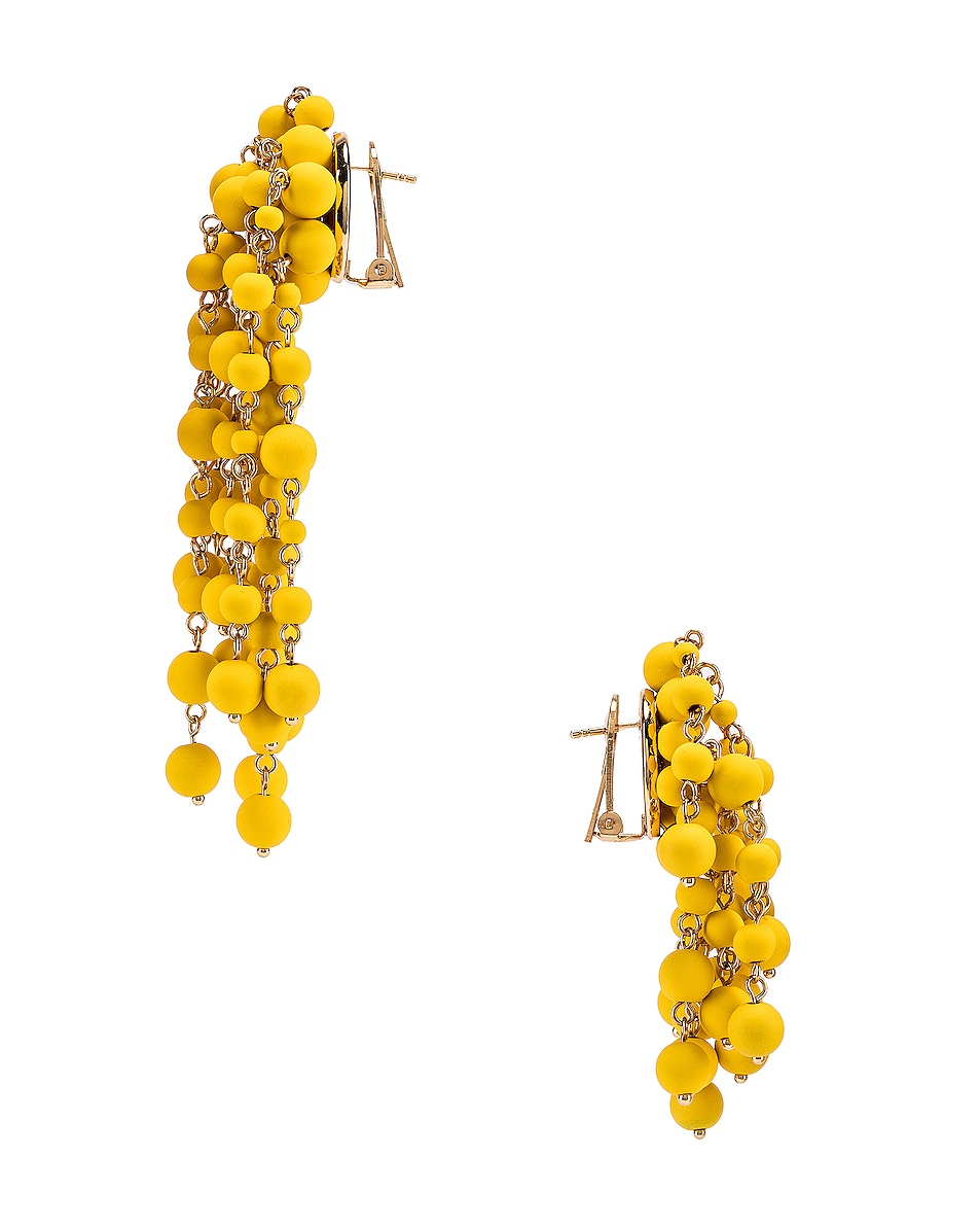 Image 3 of JACQUEMUS Les Mimosas Earrings in Yellow