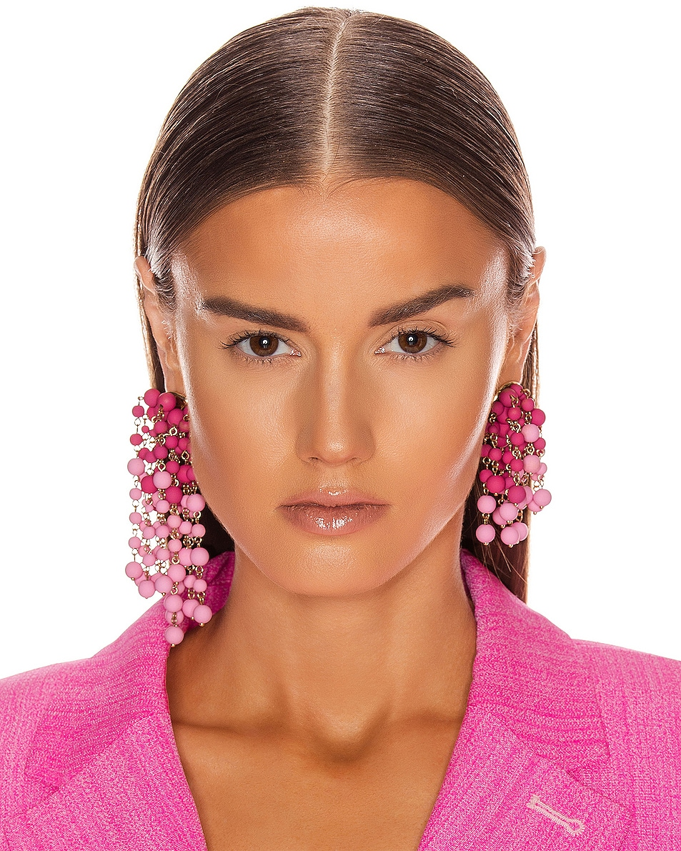 Image 2 of JACQUEMUS Les Mimosas Earrings in Pink