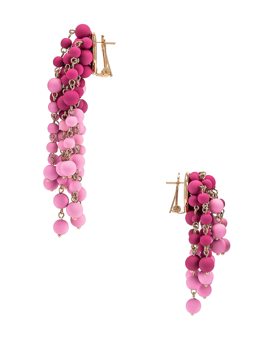 Image 3 of JACQUEMUS Les Mimosas Earrings in Pink