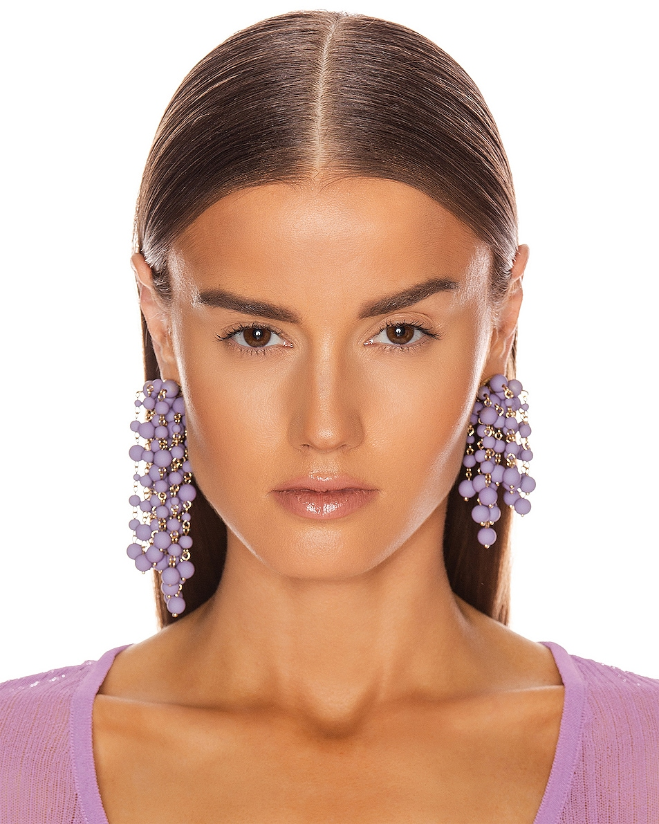 Image 2 of JACQUEMUS Les Mimosas Earrings in Lavender