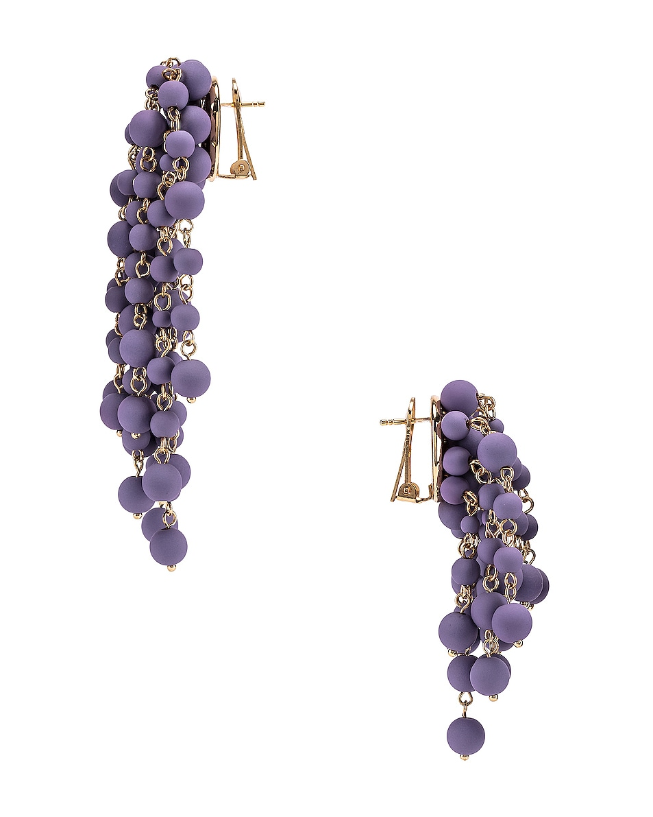 Image 3 of JACQUEMUS Les Mimosas Earrings in Lavender