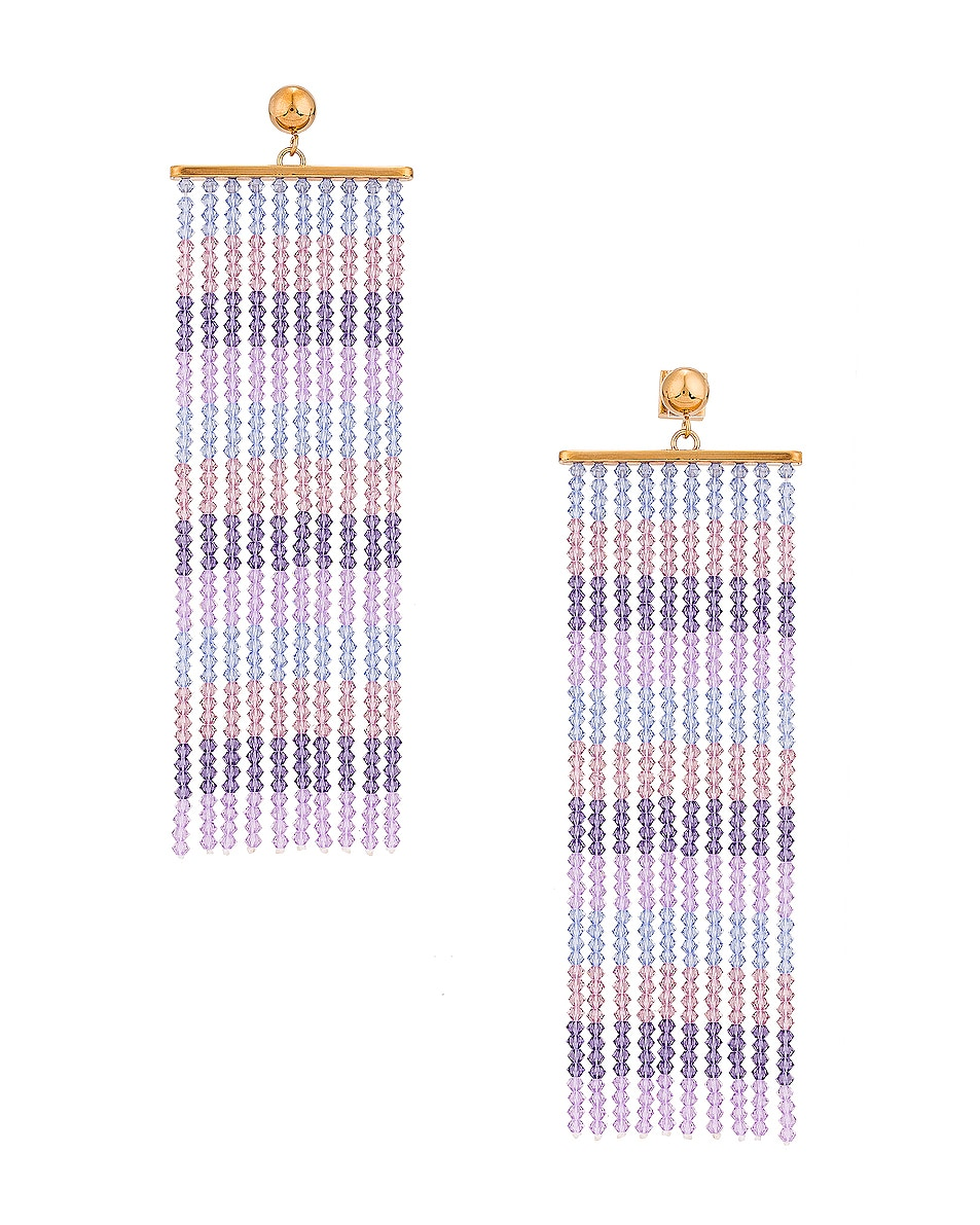 Image 1 of JACQUEMUS Les Rideaux Earrings in Lavender