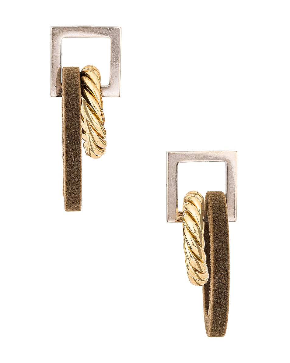 Image 1 of JACQUEMUS Les Boucles Albi in Gold