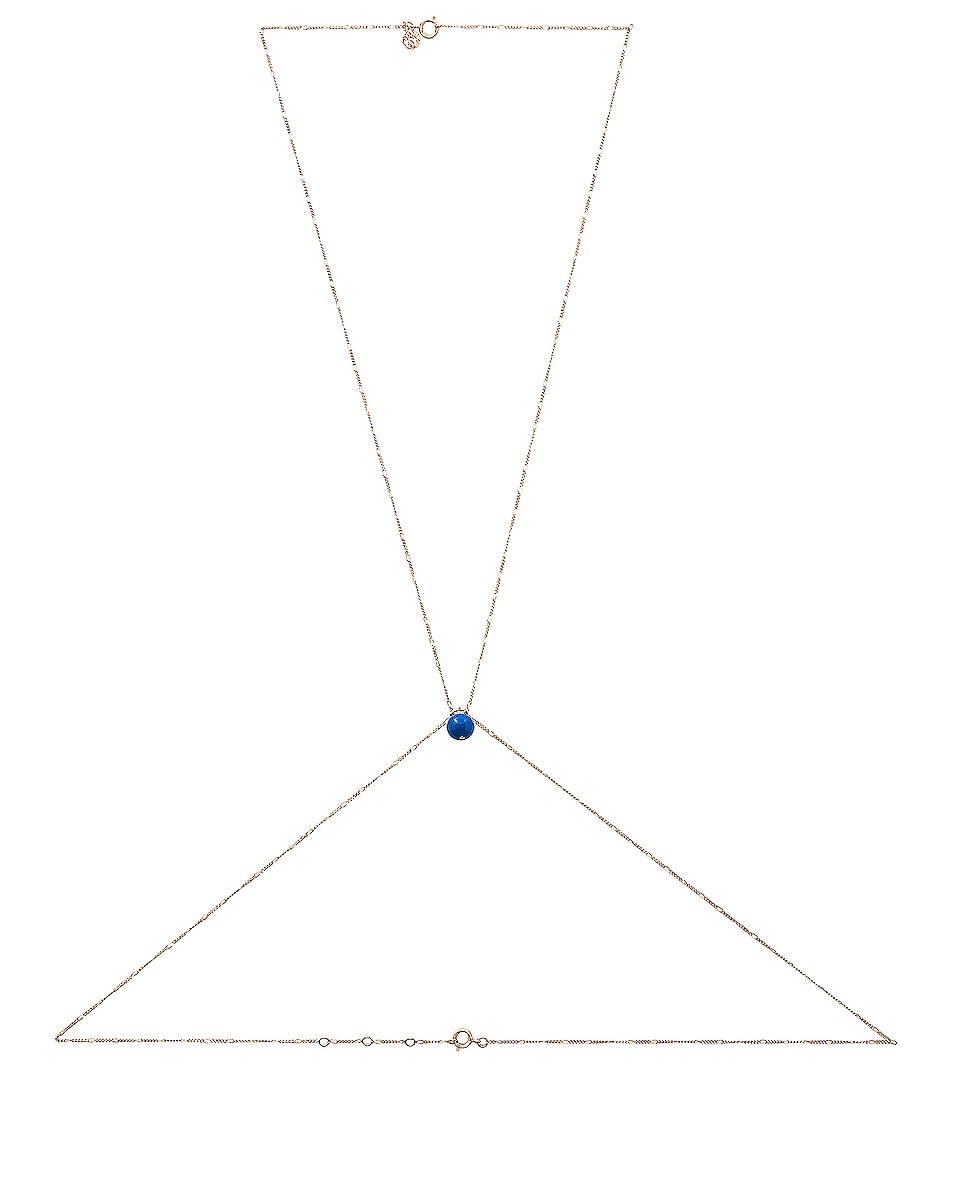 Image 1 of JACQUEMUS Bodychain in Gold & Blue